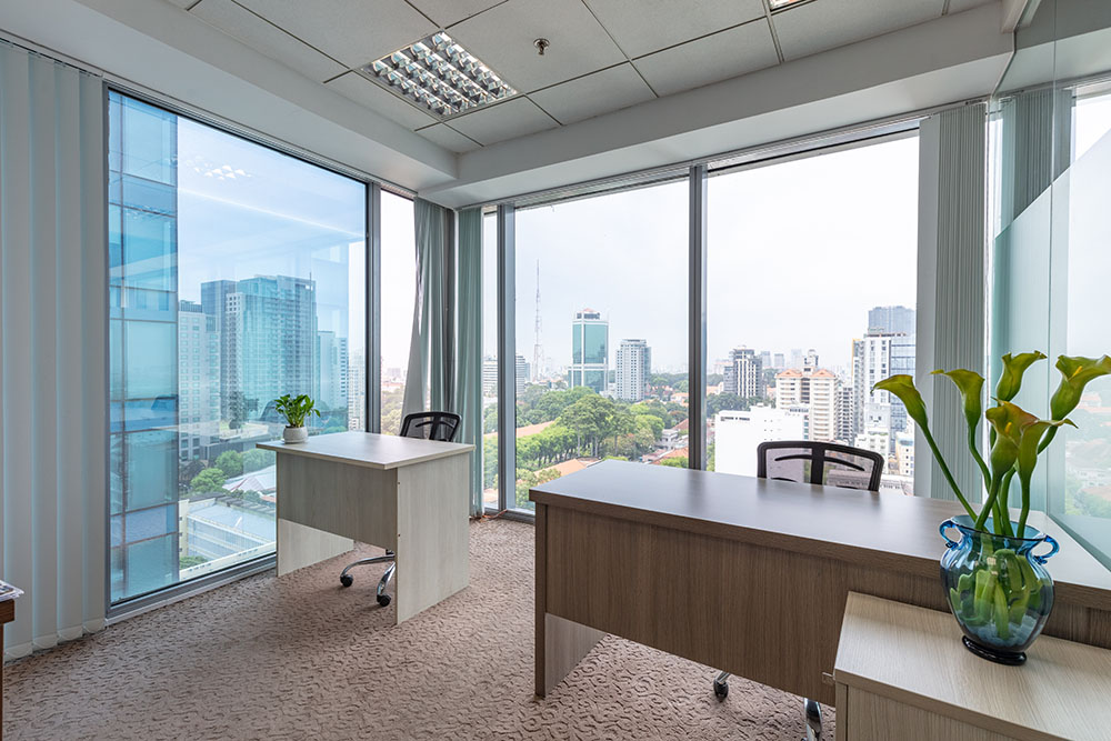 Light in the office with open space