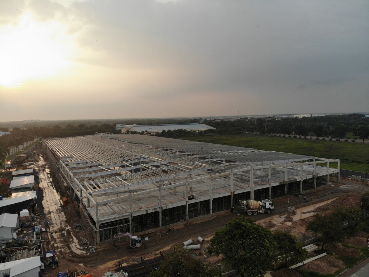 The cost of factory building is also determined by the materials