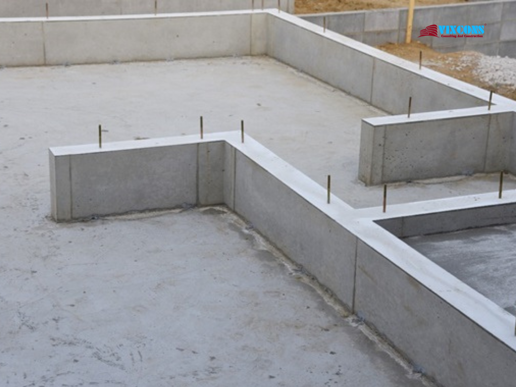 Foundation construction stage